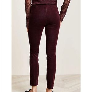 Theory Crimson Velvet Leggings